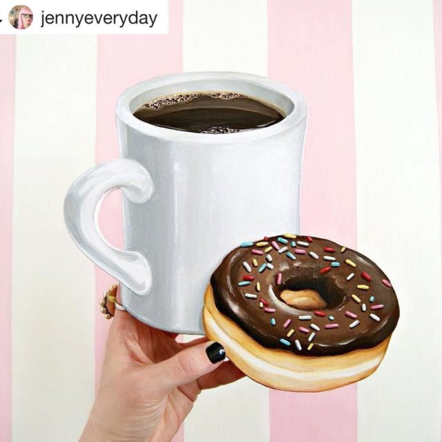 Monday routine   Disclaimer the donut artwork by jennyeverydayhellip